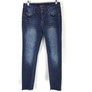 WAX Jeans Butt I love you Double button Raw Hem 11